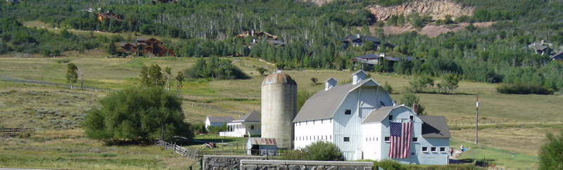 McPolin Farm at the entrance to Park City